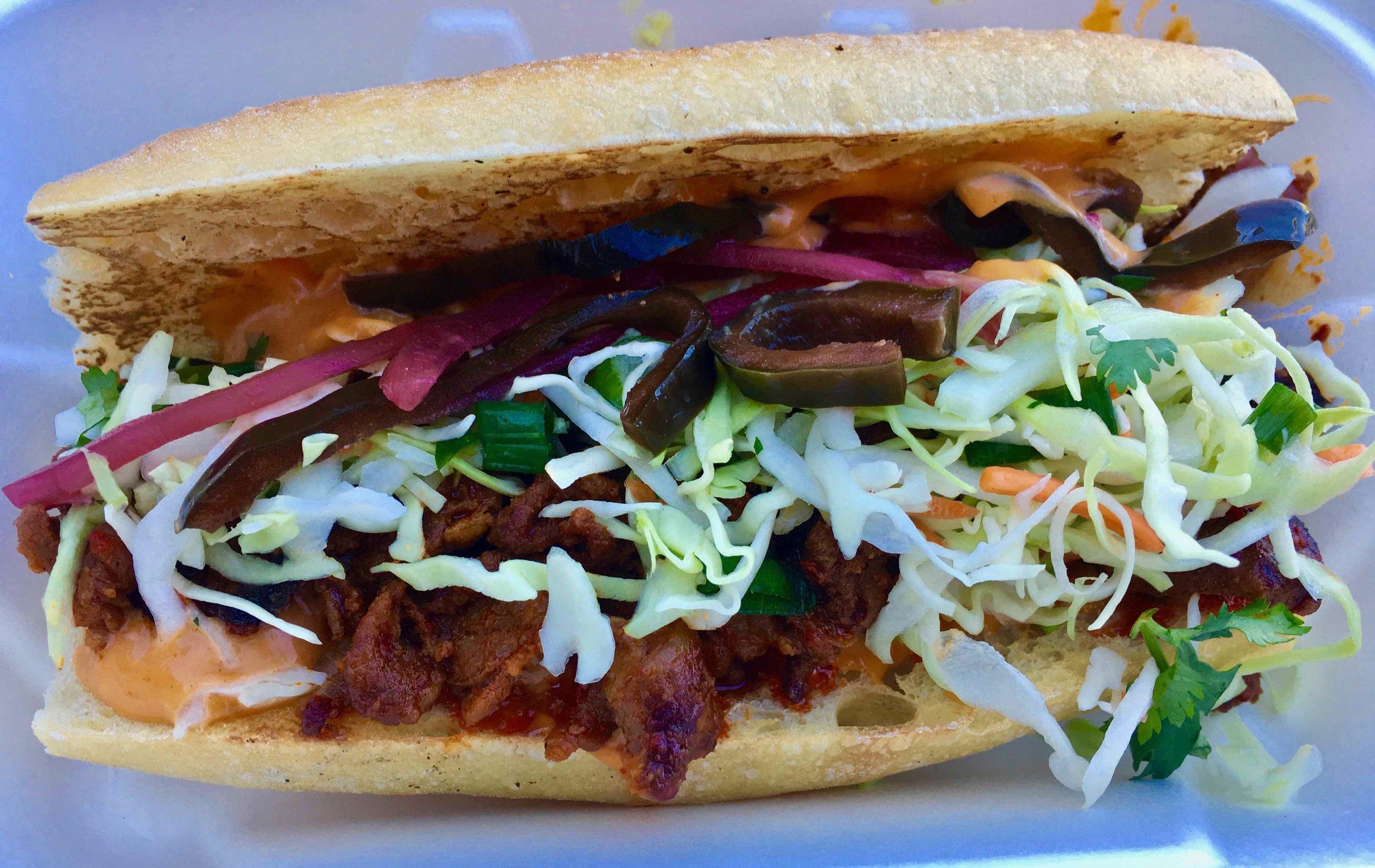 spicy pork sandwich