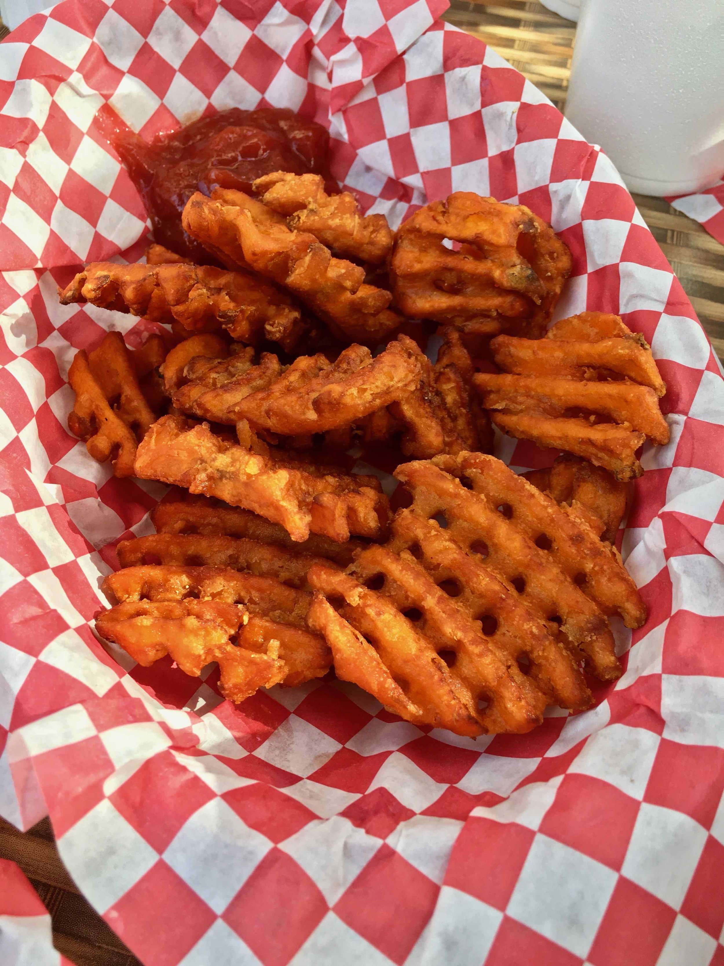 sweet potato waffle fries $3.00