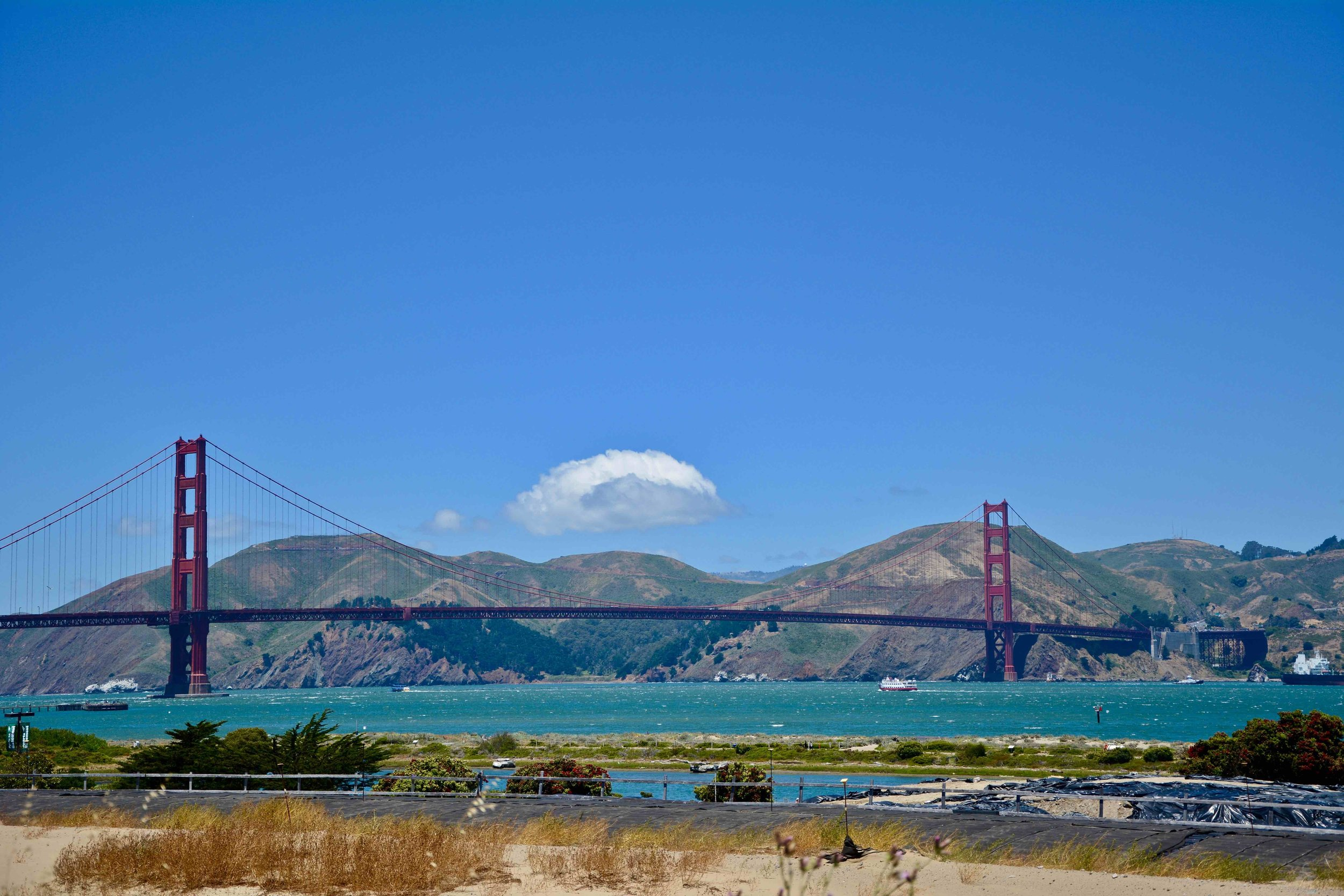 Golden Gate Bridge out Presidio Park way