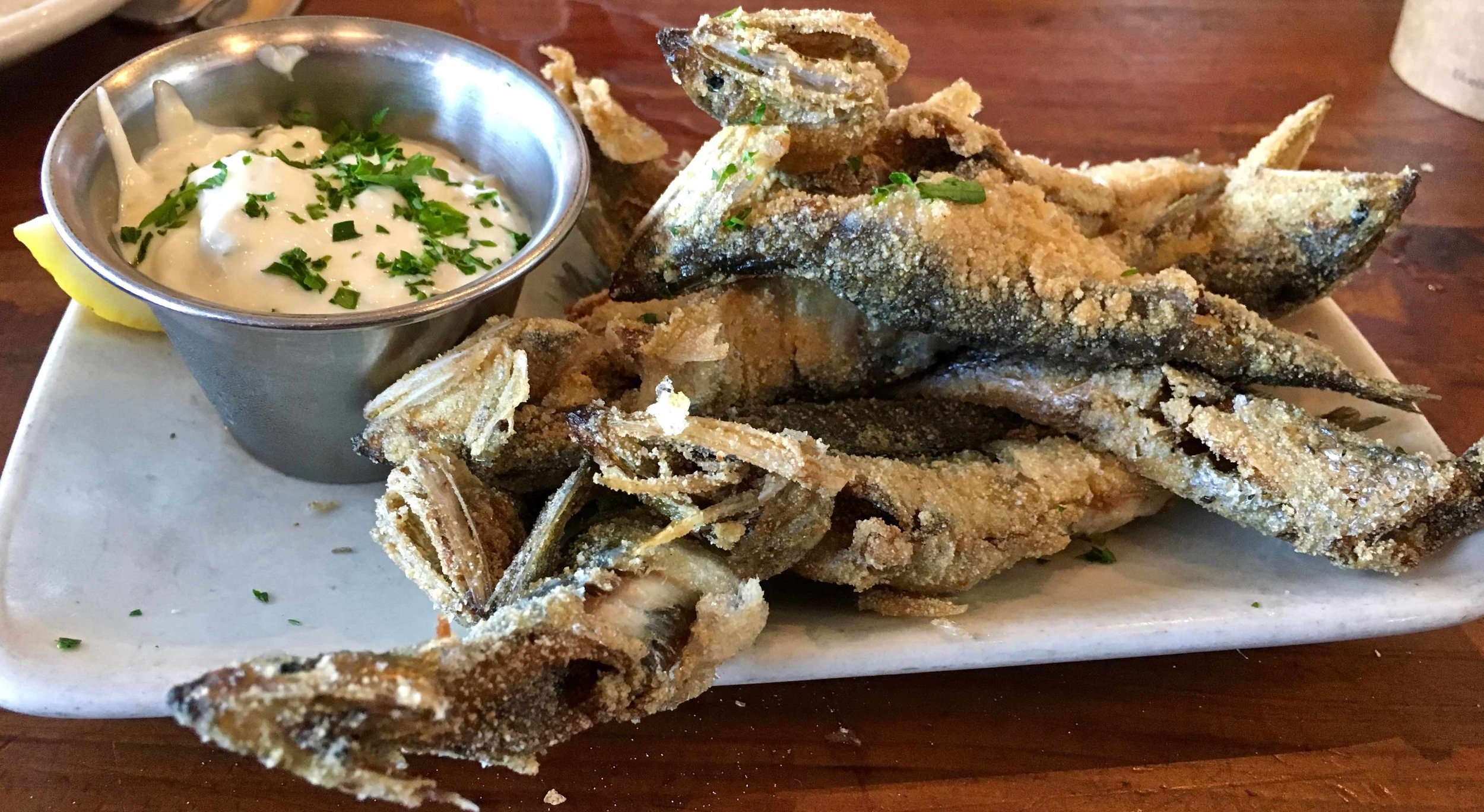 deep fried anchovies $14