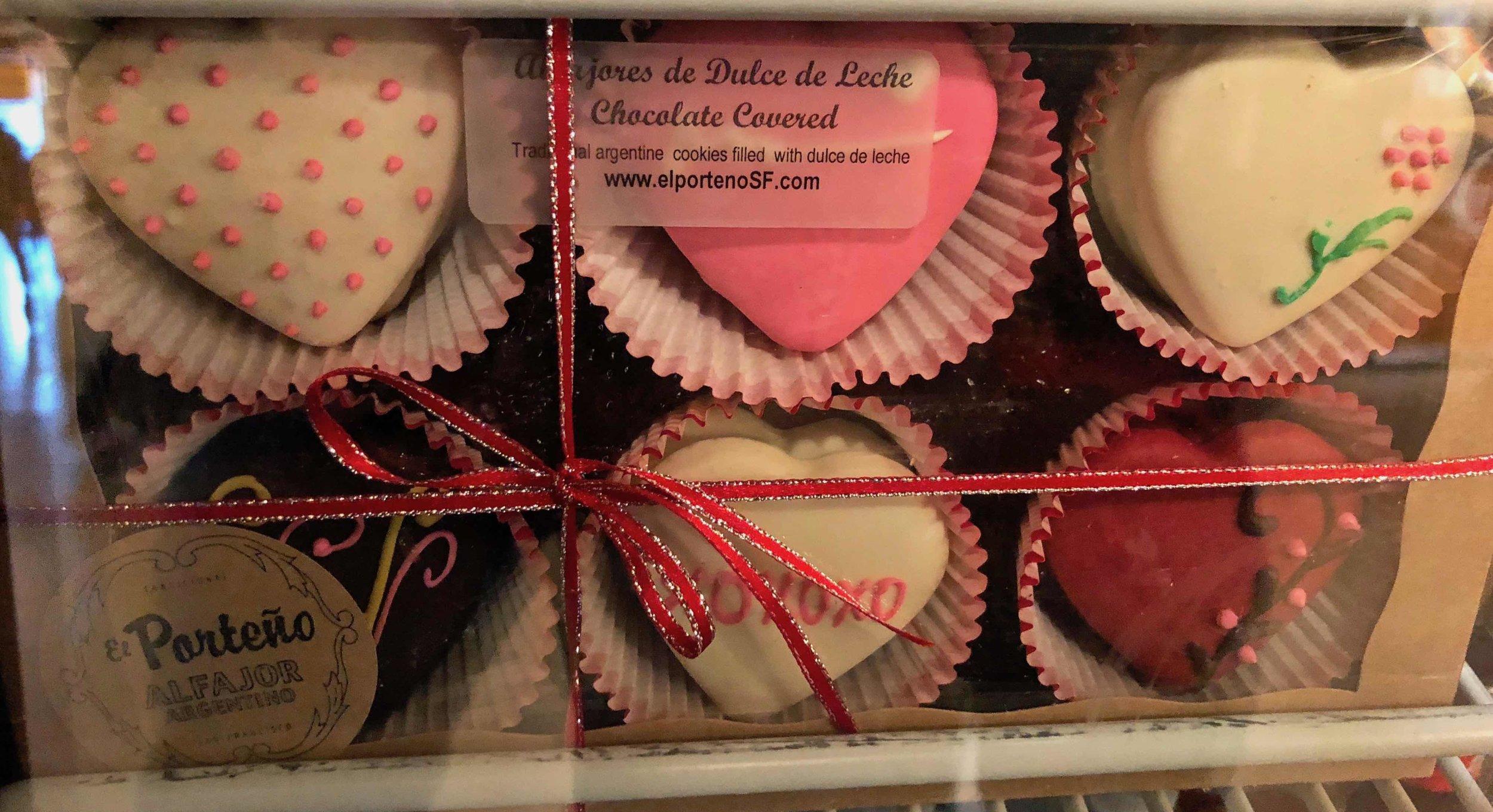dulce de leche heart cookies