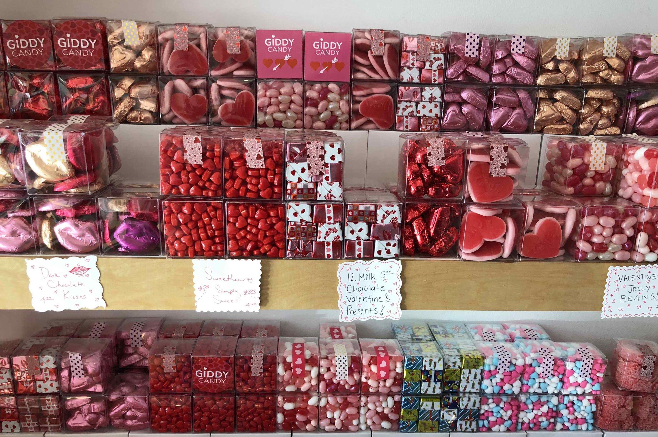 chocolates at Giddy