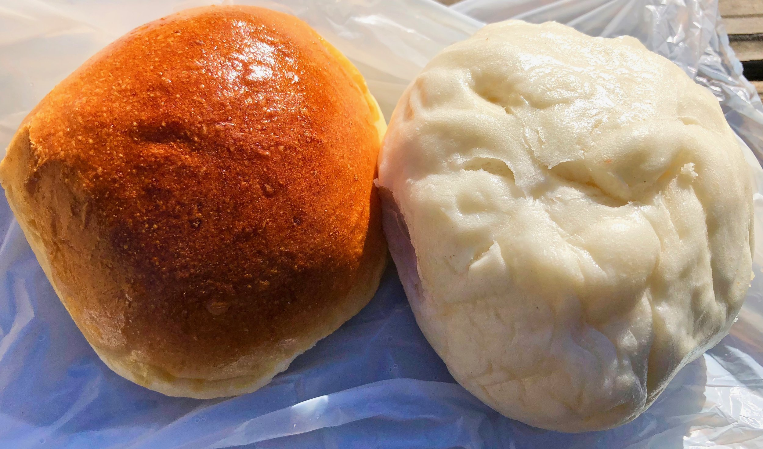 baked and steamed pork buns