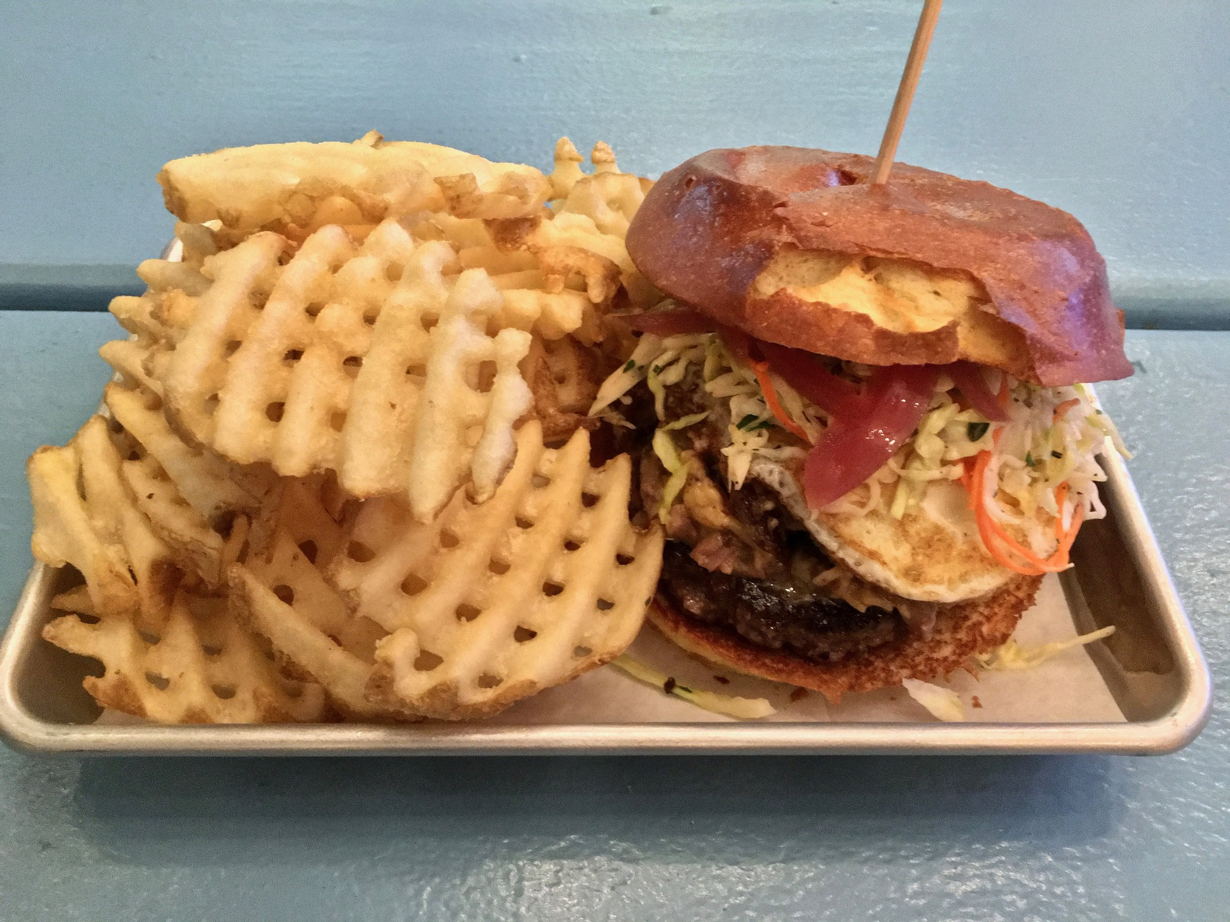 the mason dixon burger and waffle fries