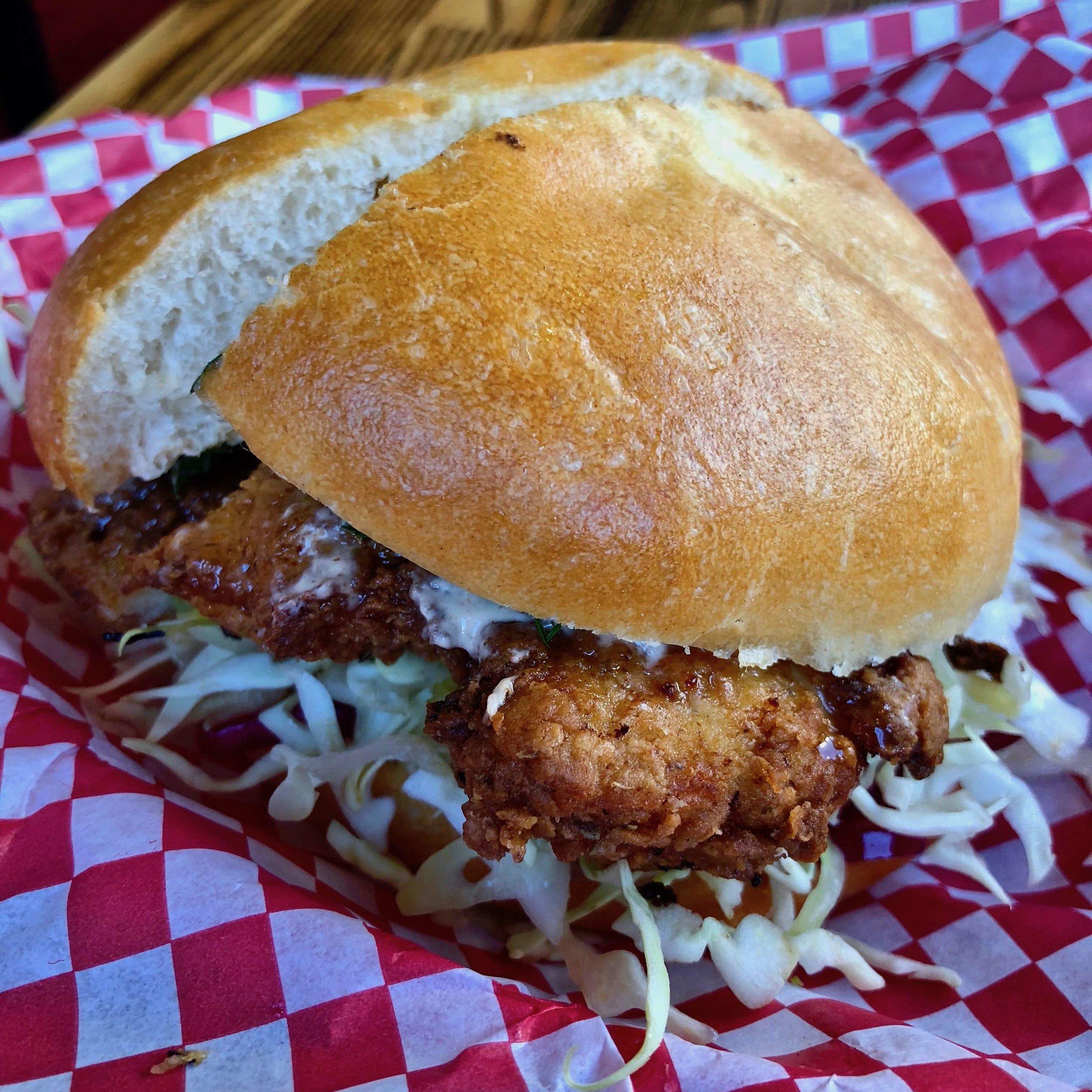 fried chicken sandwich $10