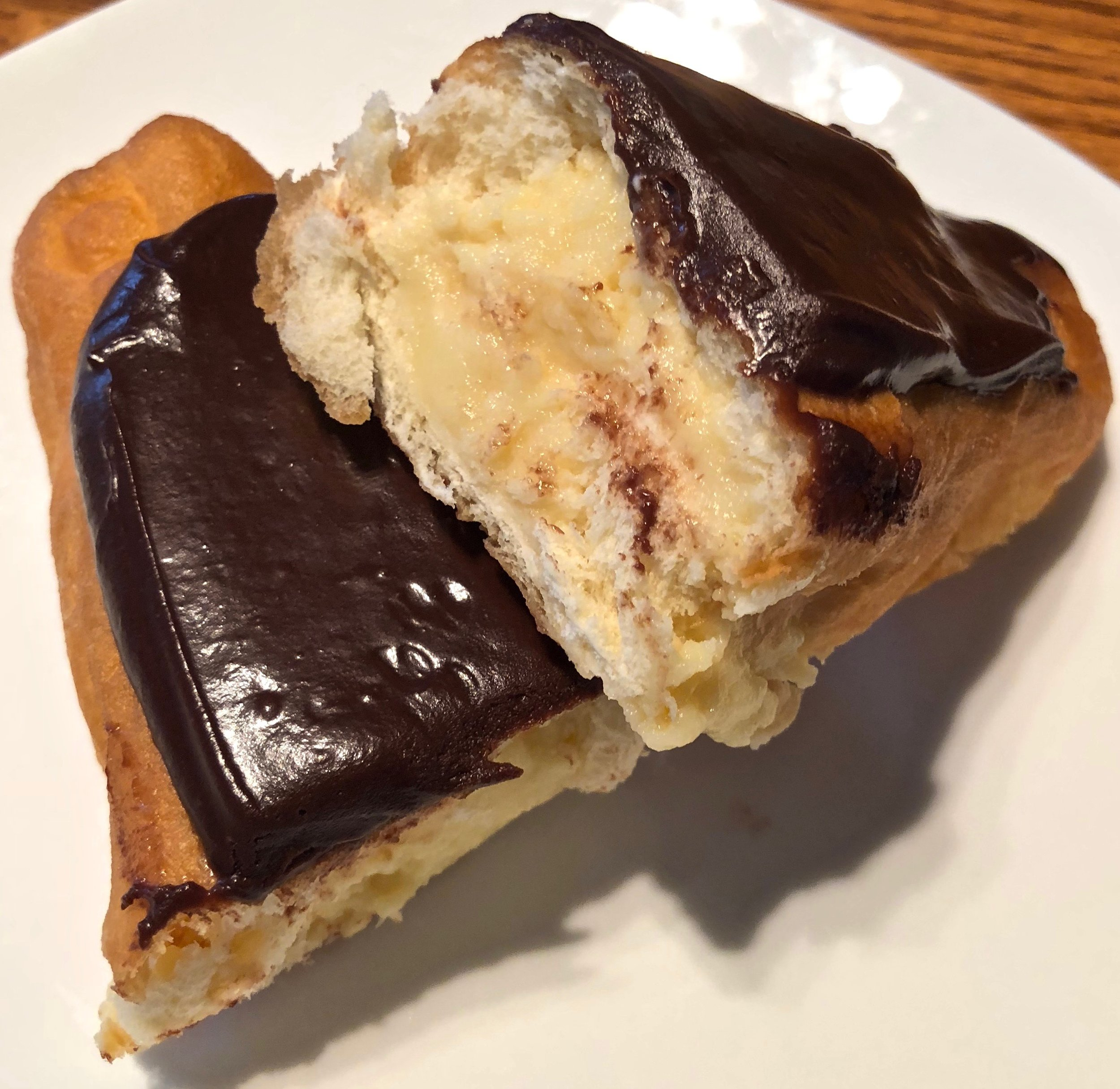 chocolate custard eclair