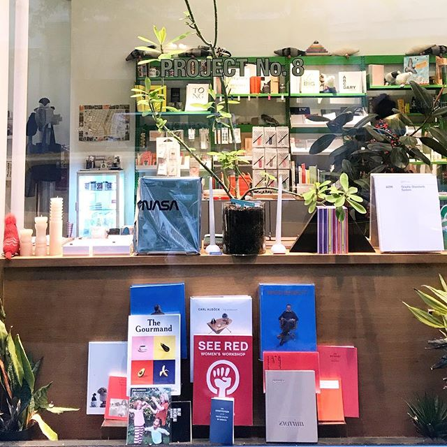 Project No.8's book and magazine selections, always a treat to explore #bookwindowshopping #projectno8 #acehotelnyc #nyc #librierge @projectno8