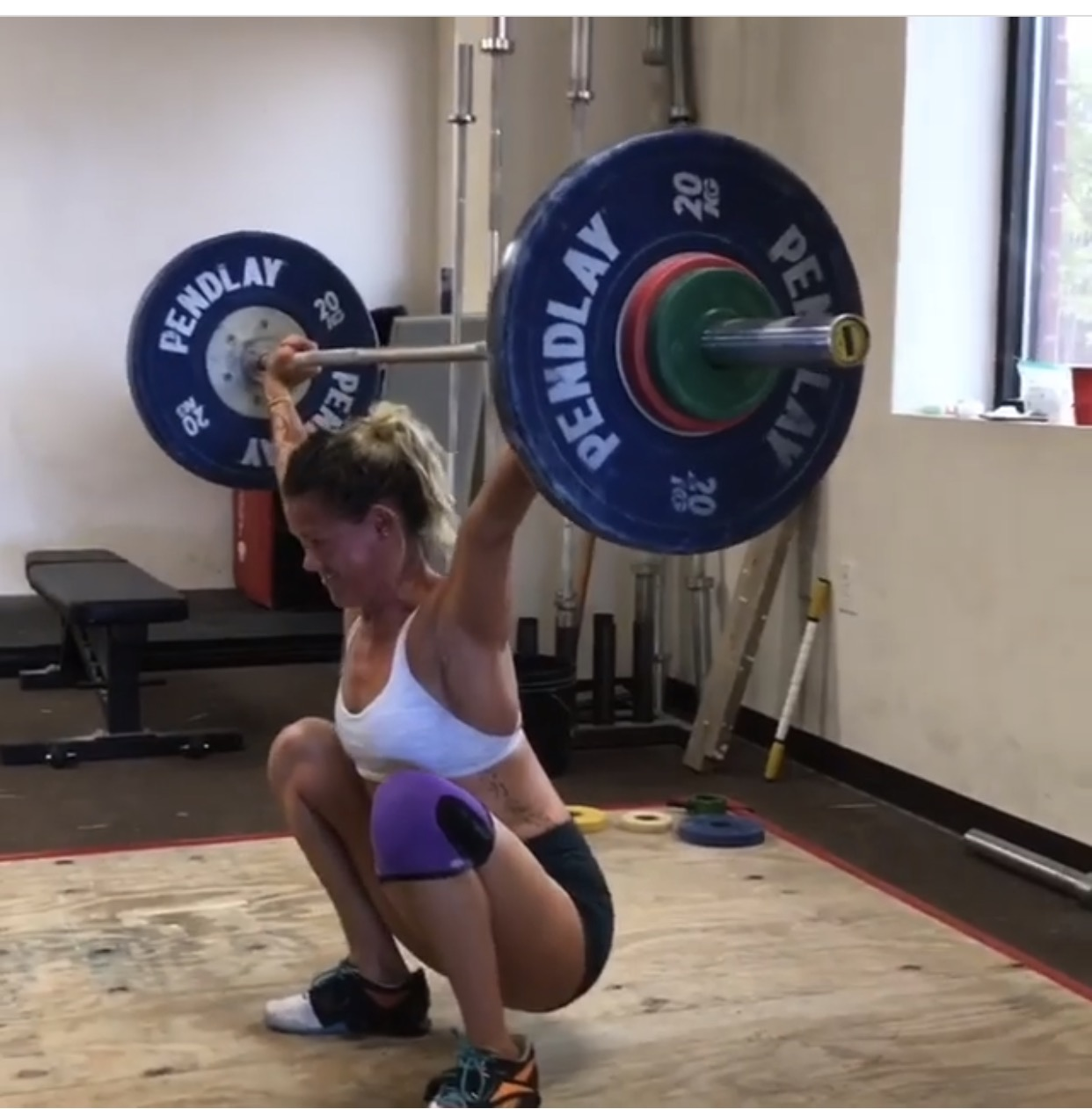 Tiffany B. - Weightlifting - Before 1st AttemptSnatch: 58kgClean and Jerk: 64kgBack Squat: 86kgFront Squat: 64kgWith 1st Attempt:Snatch: 62kgClean and Jerk: 70kgBack Squat: 95kgFront Squat: 70kg