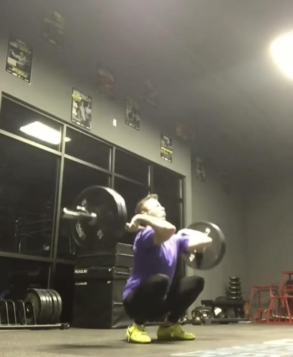 Matt W.- Weightlifting - Before 1st AttemptSnatch: 80kgClean and Jerk: 94kgBack Squat: 111kgFront Squat: 90kgWith 1st Attempt:Snatch: 93kgClean and Jerk: 107kgBack Squat: 134kgFront Squat: 107kg