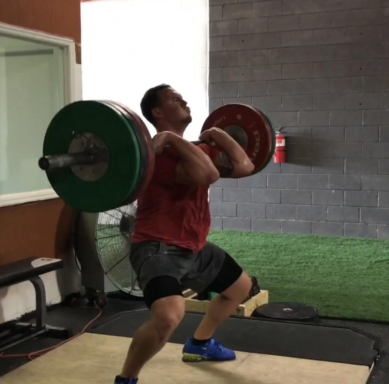 Jeremy S.- CrossFit - Before 1st AttemptSnatch: 200lbsClean and Jerk: 240lbsClean: 260lbsWith 1st AttemptSnatch: 225lbsClean and Jerk: 285lbsClean: 295lbs