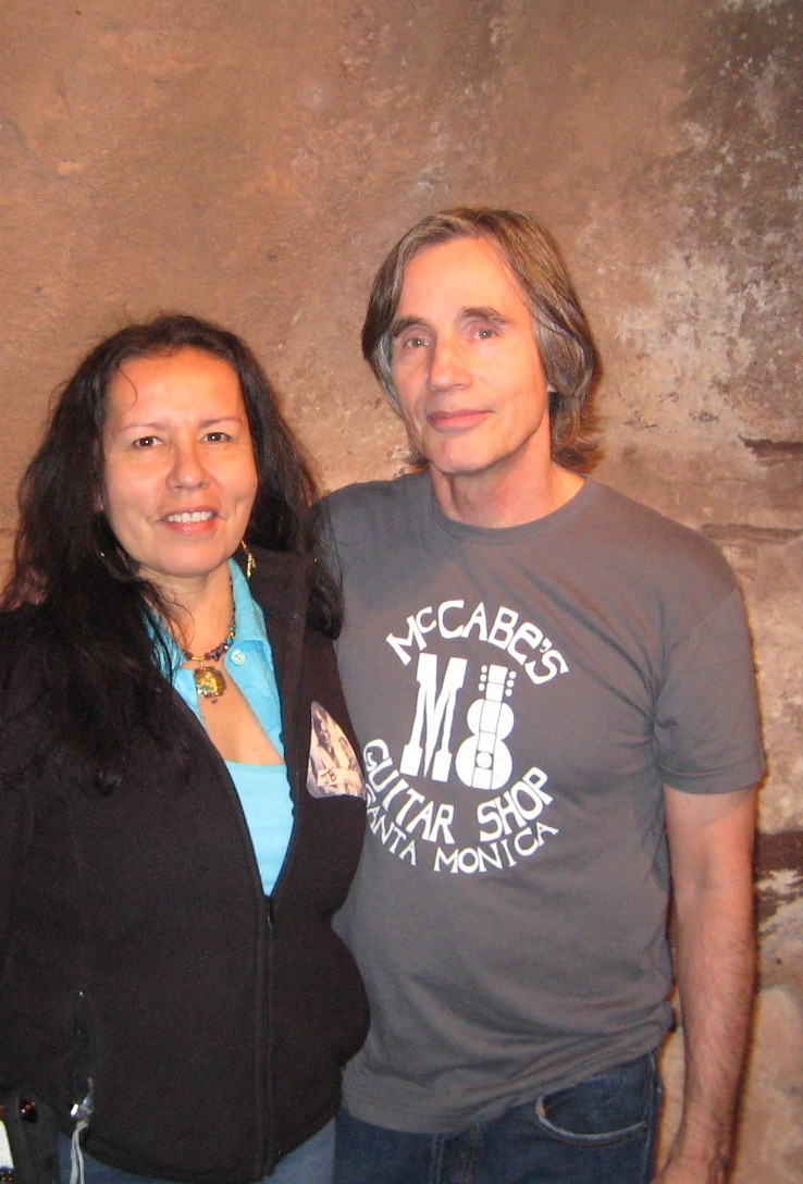 Rose with Jackson Browne at Red Rocks