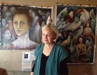 Artist resident Carolyn Callahan. (Photo Andrew Klein)
