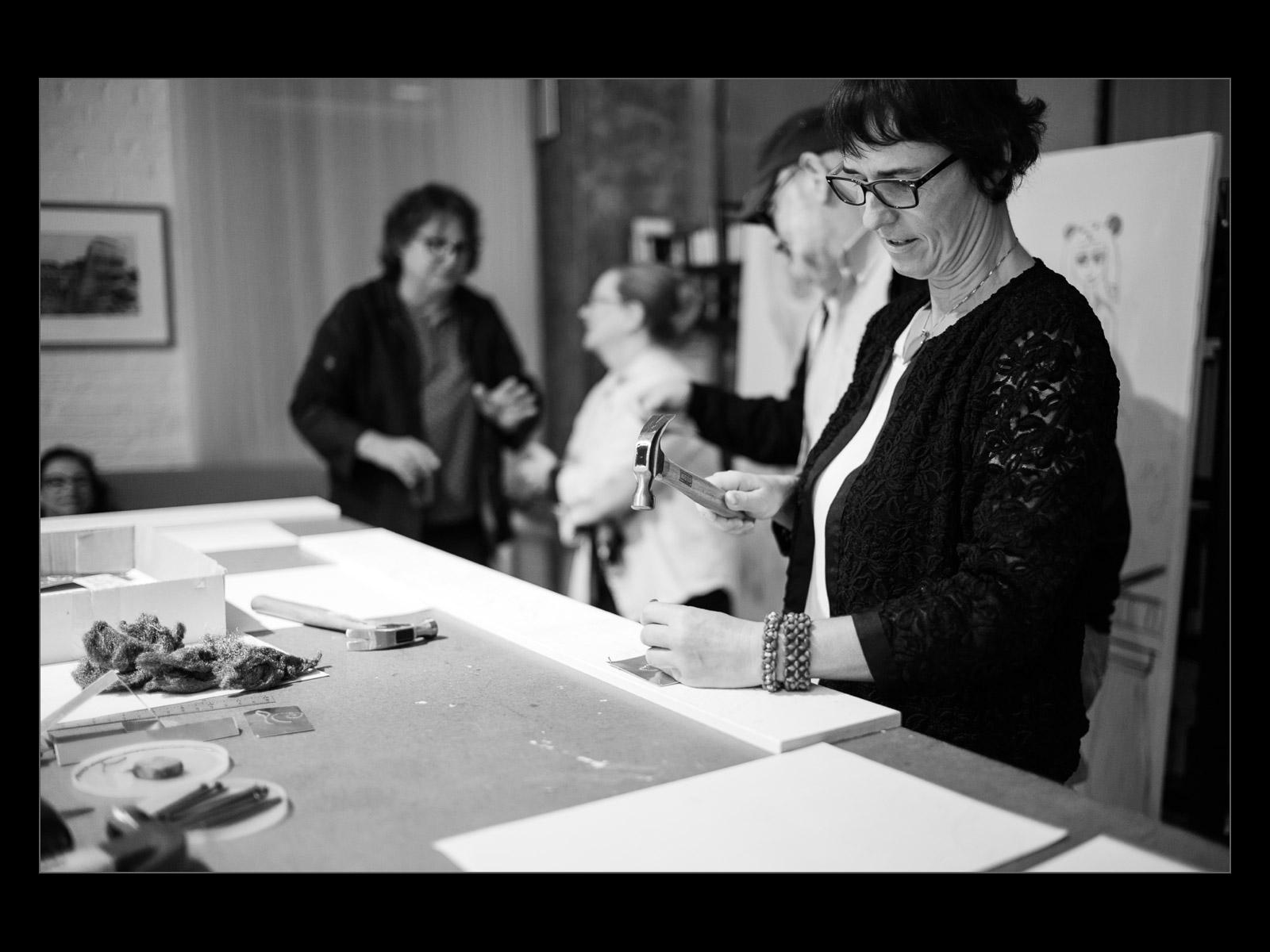 Artist resident Christina Lanzl (photo Dirk Ahlgrim)