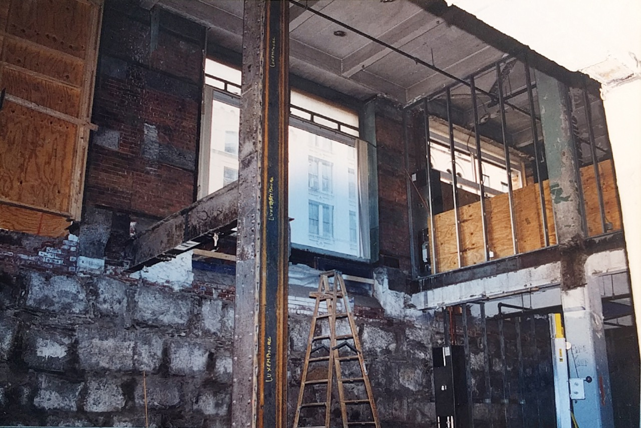 Atrium construction, circa 1994