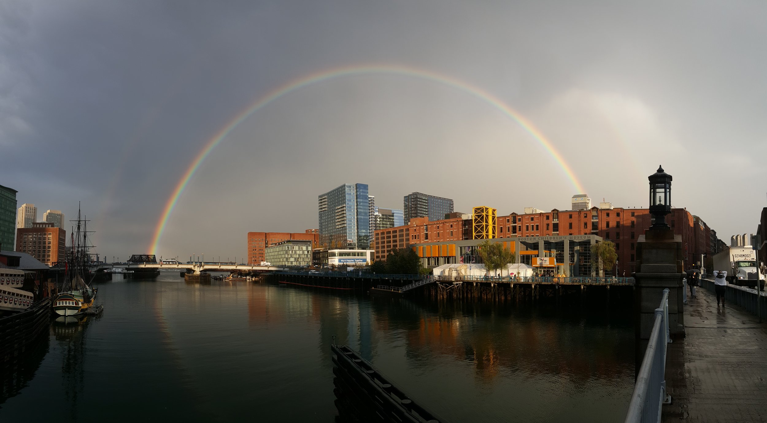 Rainbow over Fort Point, Boston