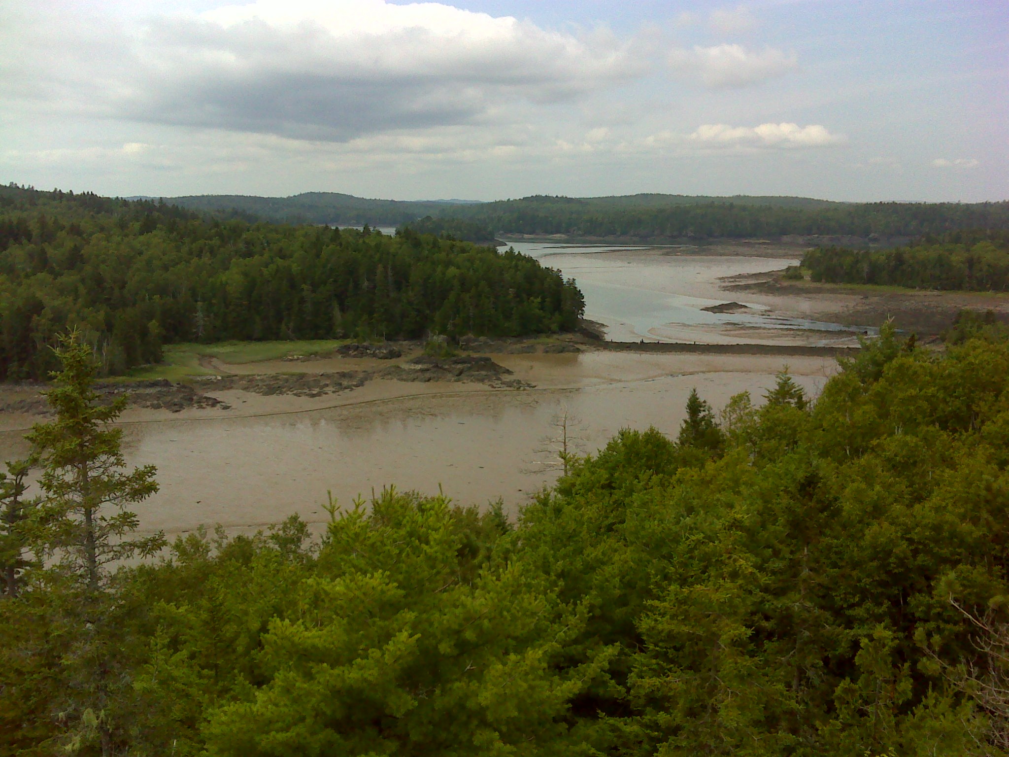 The mill dam seen from the shoulder of Klondike Mountain