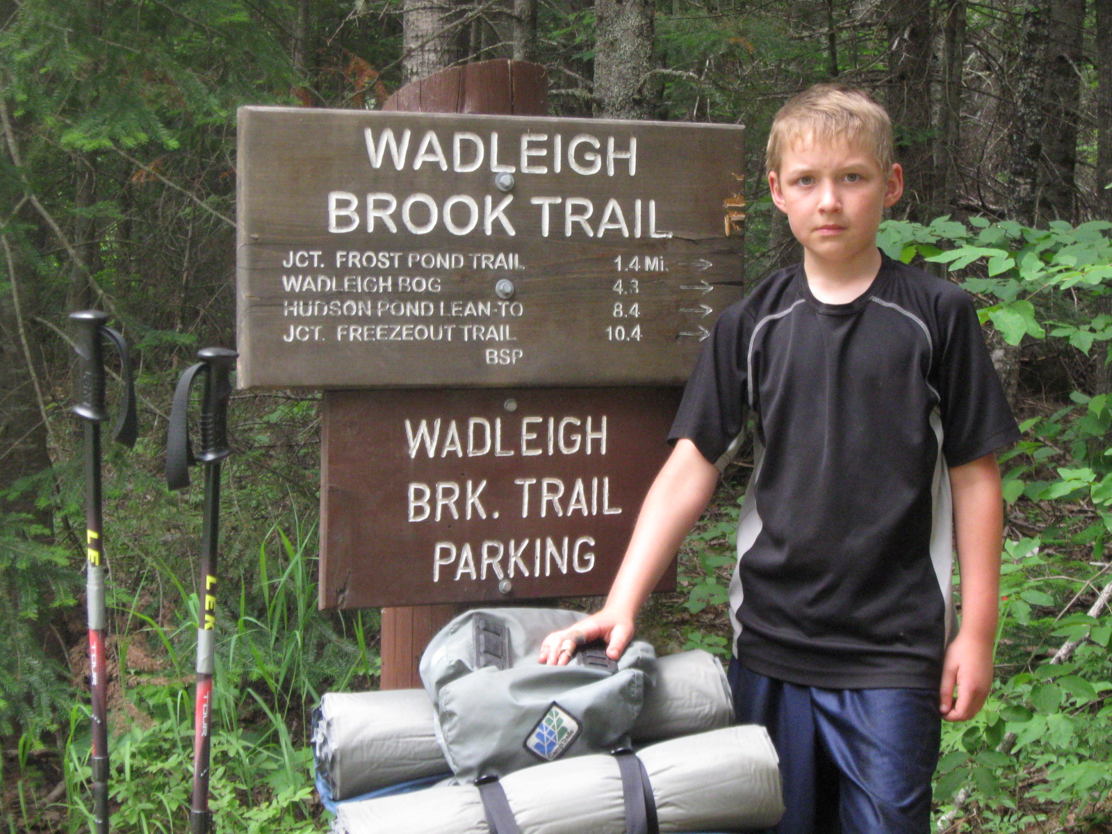 Eight year old Henry at the trailhead