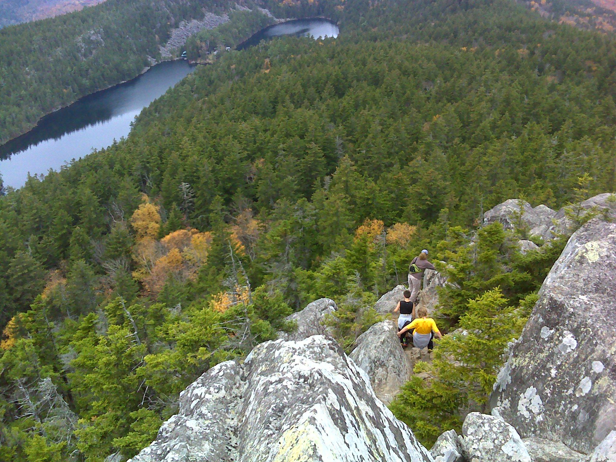 Descending Borestone's West Peak
