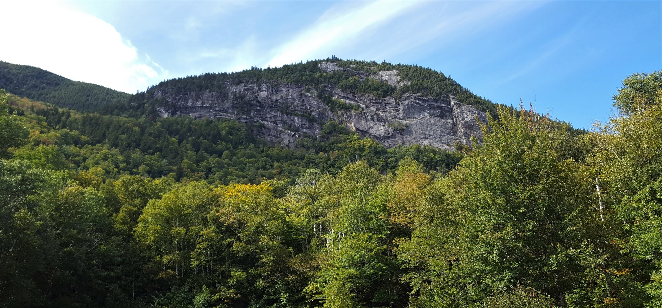 The Eyebrow from the parking area in Grafton Notch