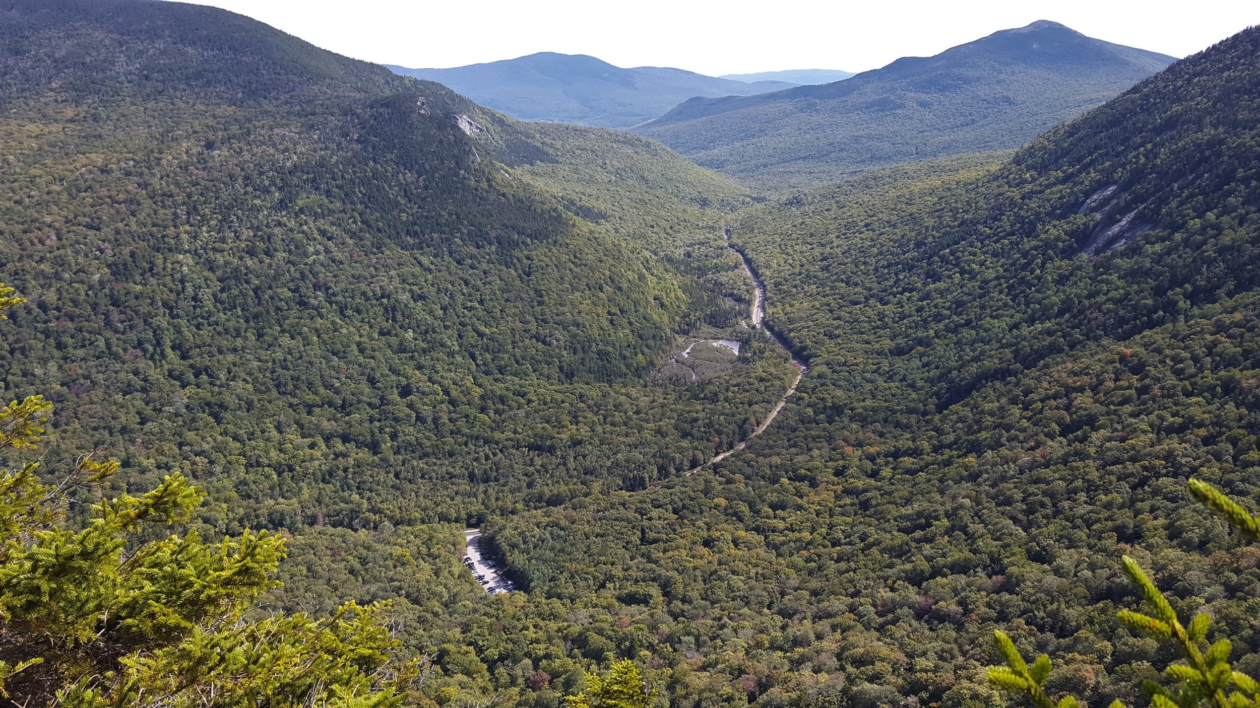 I have mixed feelings about hikes where I can see my car from the summit. It's a great view of Grafton Notch.