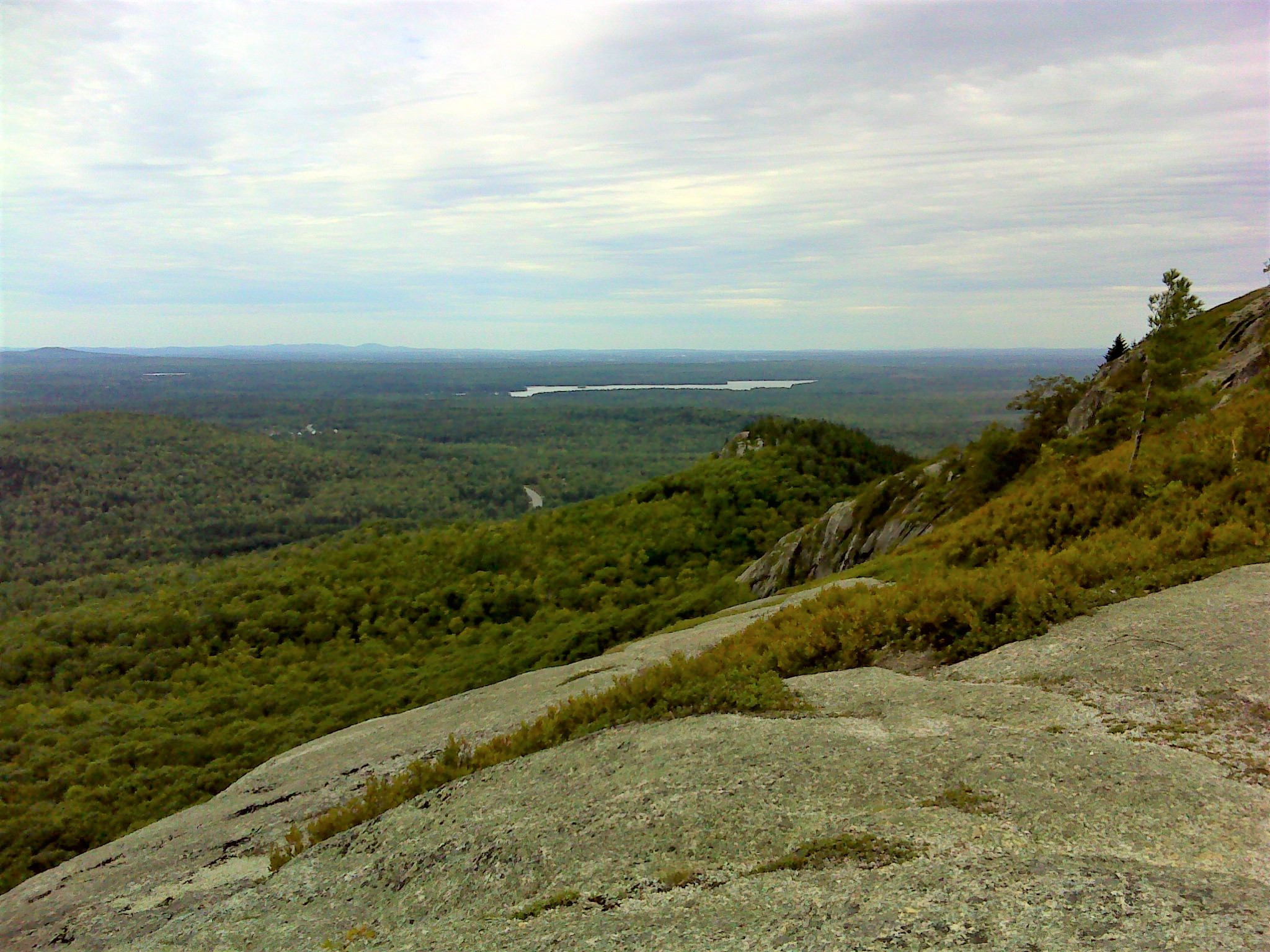Little Chick Hill from near the summit of Big Chick Hill