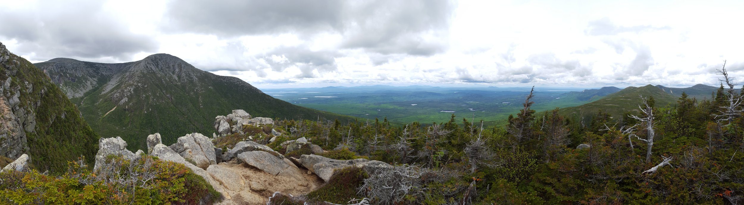 Looking south from below the summit