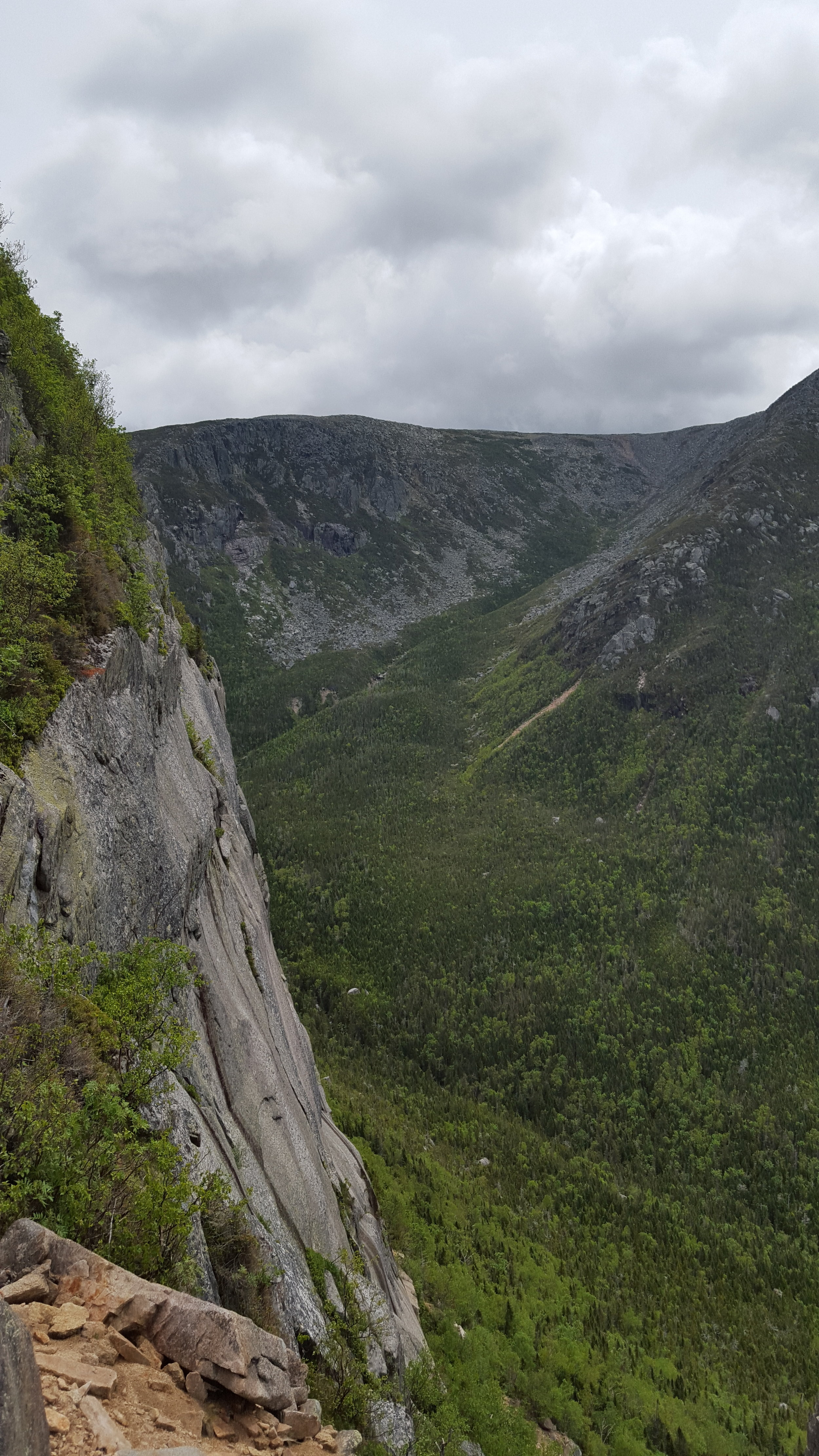 The view from the first cliffs across Witherle Ravine