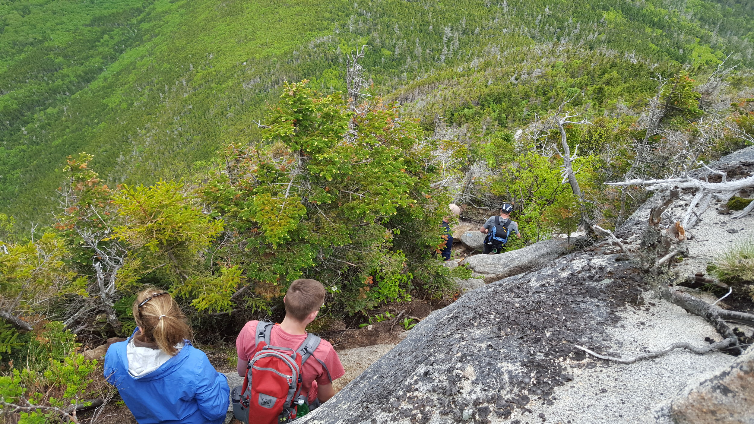 Near the top of the steep section