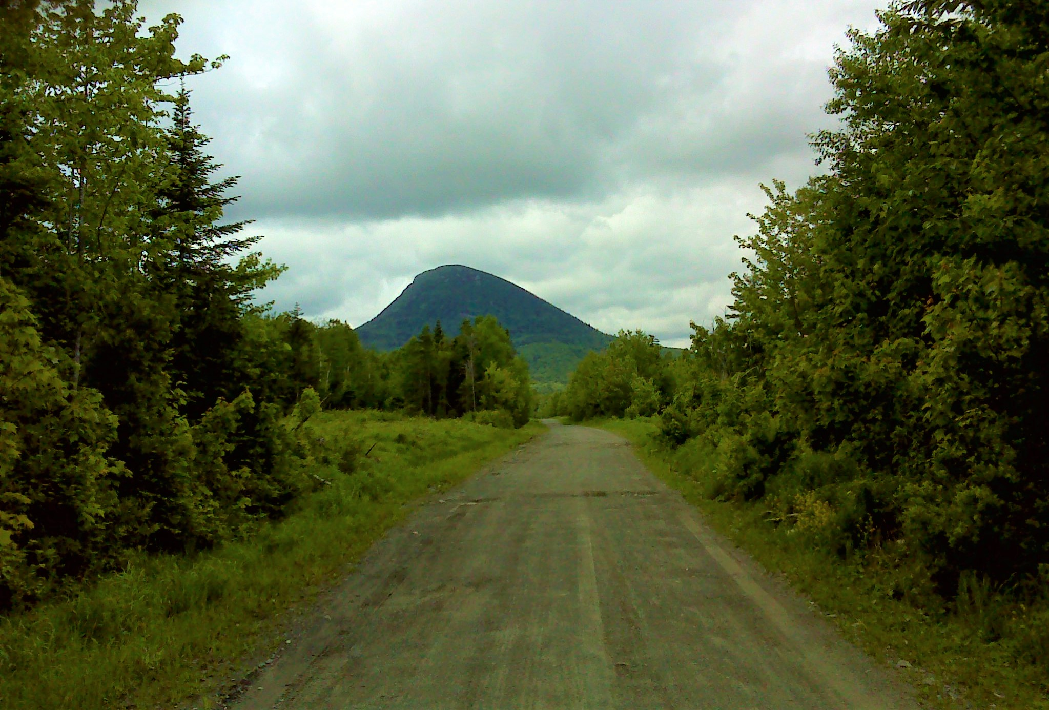 The east end of Big Spencer from the road to the trailhead