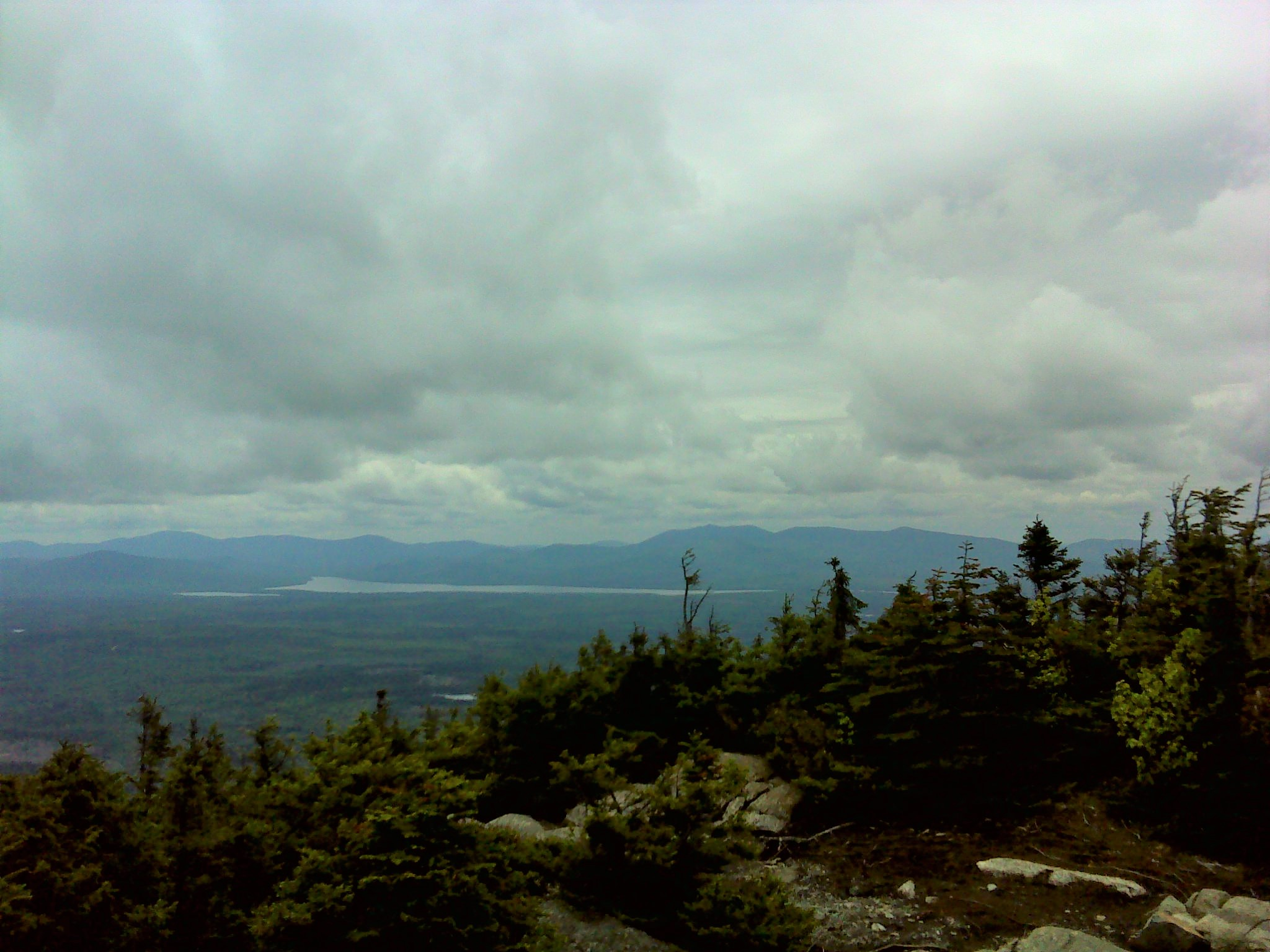 Moose Mountain across Moosehead Lake from the summit