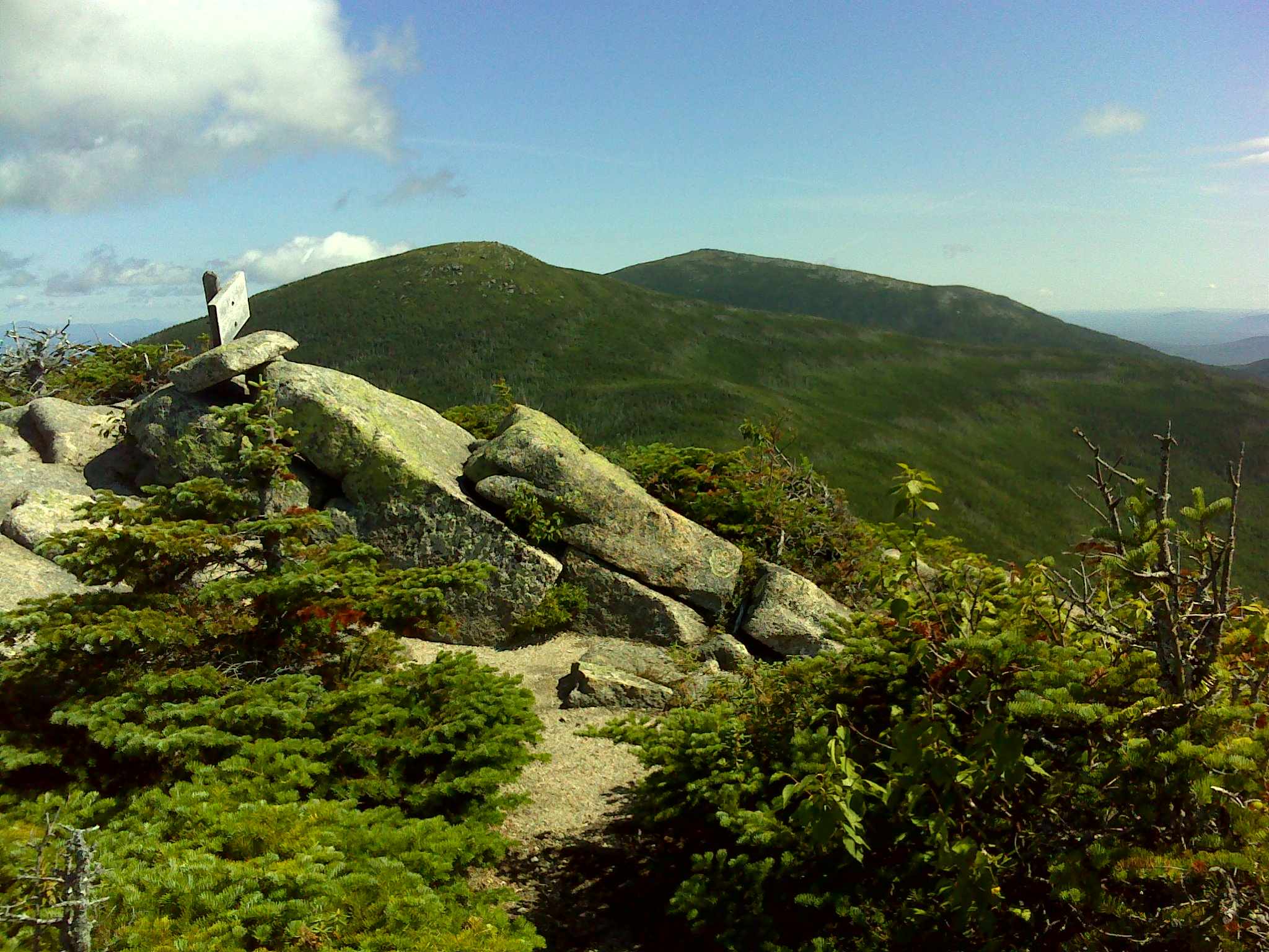 Looking across the summit to The Brothers