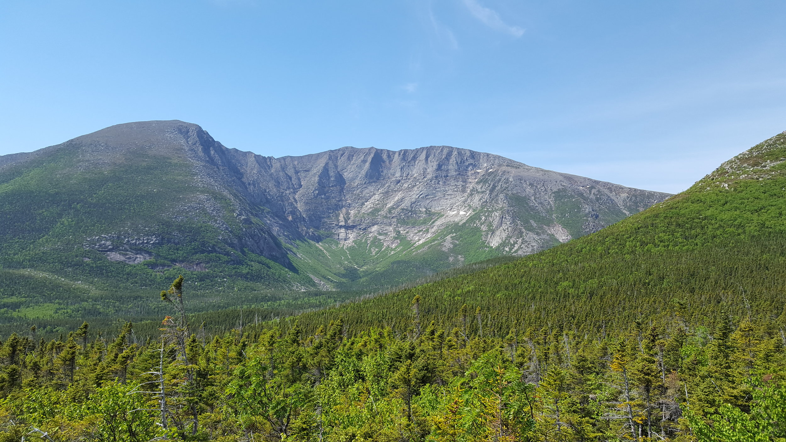 Katahdin from Blueberry Knoll in the North Basin