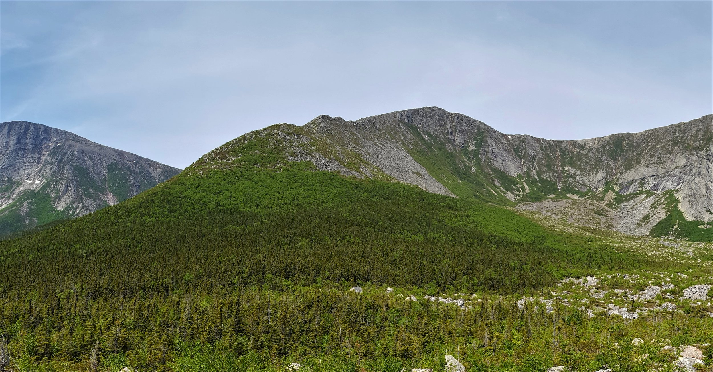 Hamlin Ridge from Blueberry Knoll at the mouth of North Basin