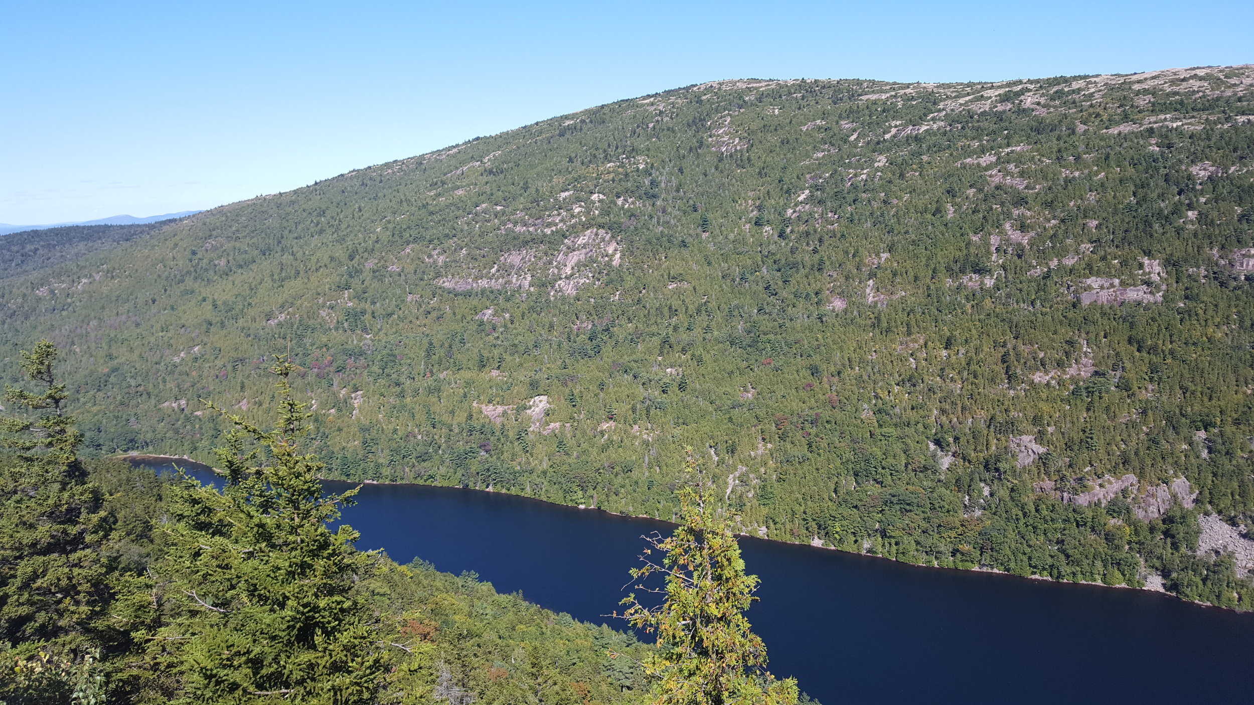 Cadillac Mountain's south ridge and Bubble Pond