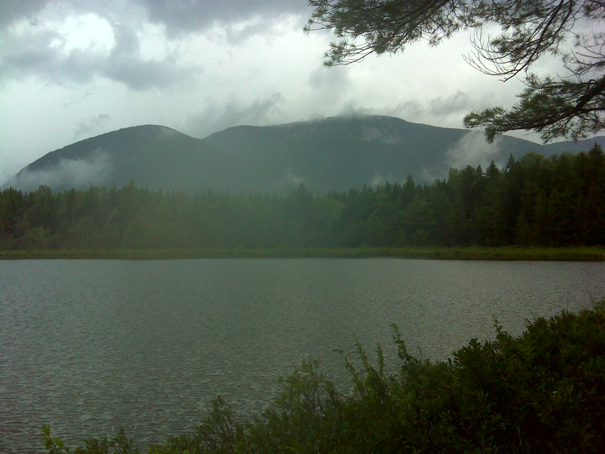 Moose Mountain (outside the park) across Deer Pond
