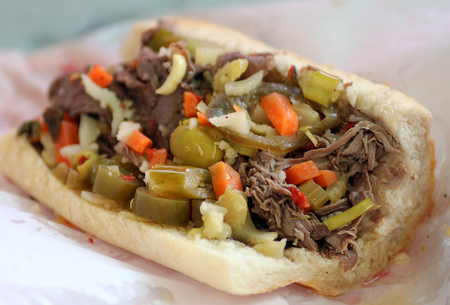 Chicago Italian Beef Sandwiches with Giardiniera