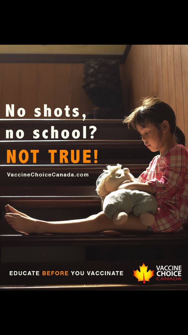 ** It's very important to be clear on this point!    See also the posting in March 2019:    Vaccination Billboards in Toronto