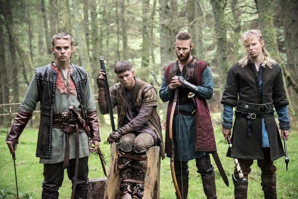 From left to right: Hvitserk, Ivar, Ubbe and Sigurd.
