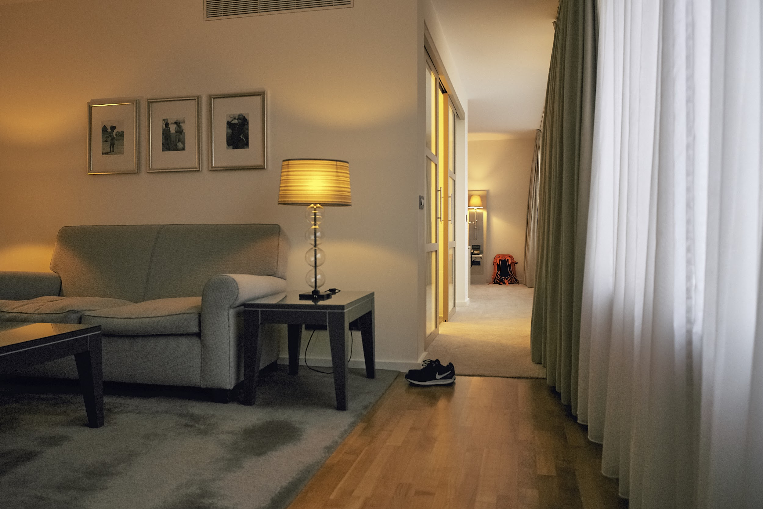 Picture of the Apartment, you have a lovely living room separated from the room.