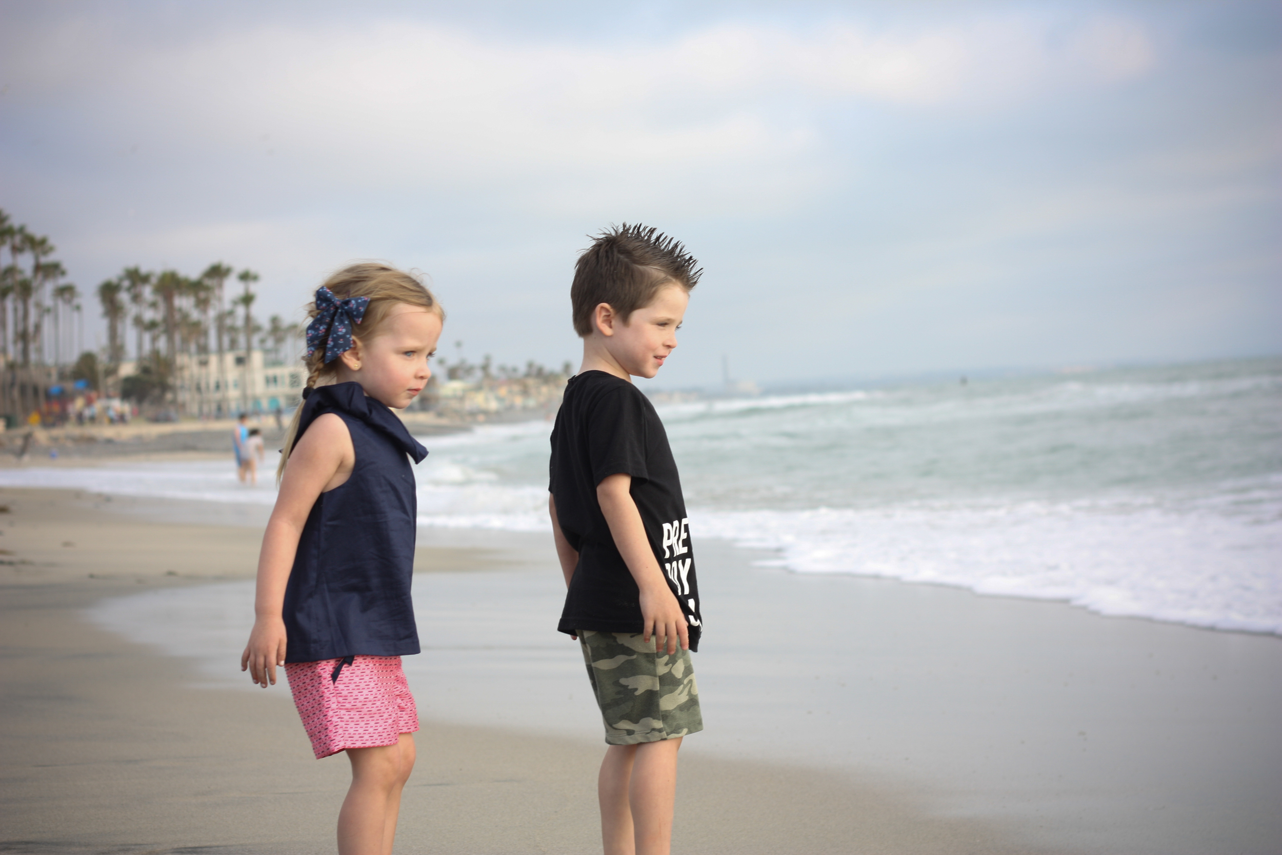 My two sweet little loves before they ventured into the surf
