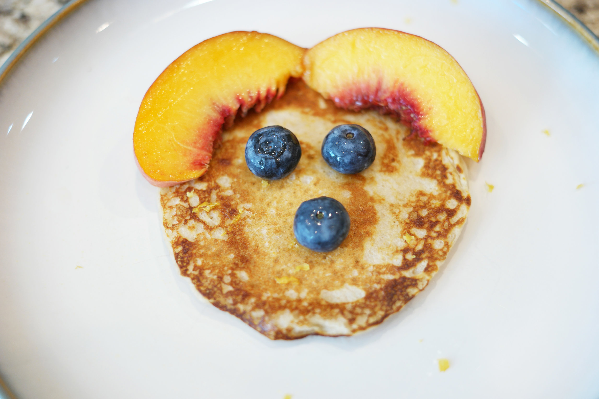 Pic of pancake face with peaches ears