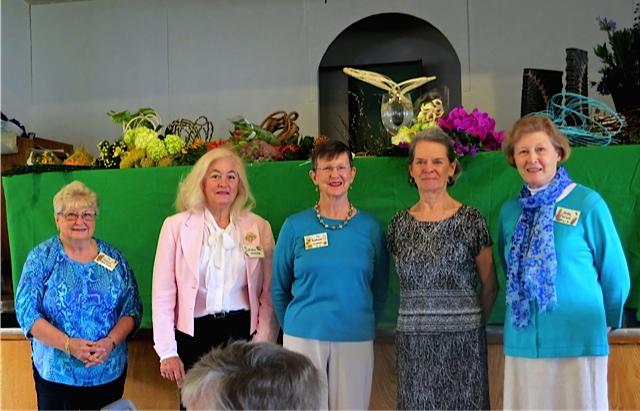 GCLA Officers for 2015-2016: Recording Secretary Pat Hirschbek, VP & Programs Chair JoAnne Connelly, Treasurer Barbara Capron, Corresponding Secretary Susan Trost & President Betty Ward.