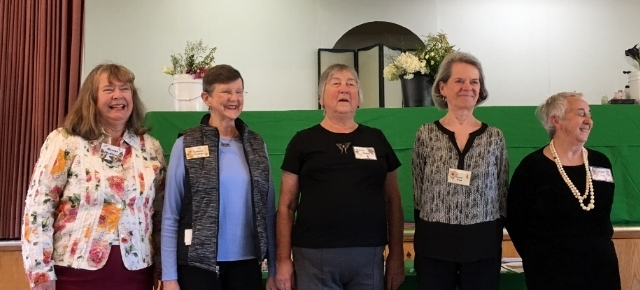GCLA Officers for 2017-2018: President Pat Ley, VP & Program Chair Judy Hogan, Corresponding Secretary susan trost, Treasurer Barbara Capron, and Recording Secretary Marilyn McAlpine
