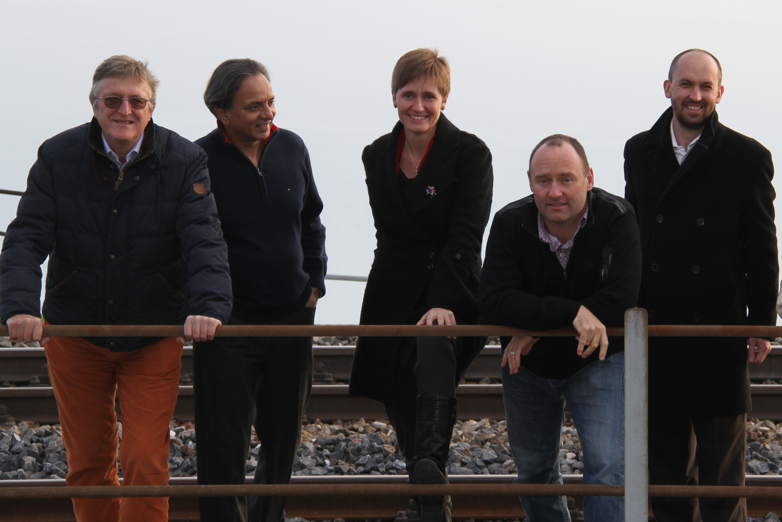 The 50+20 core auditors team: from left to right, Thomas Dyllick, Paul Shrivastava, Katrin Muff, Mark Drewell, and John North