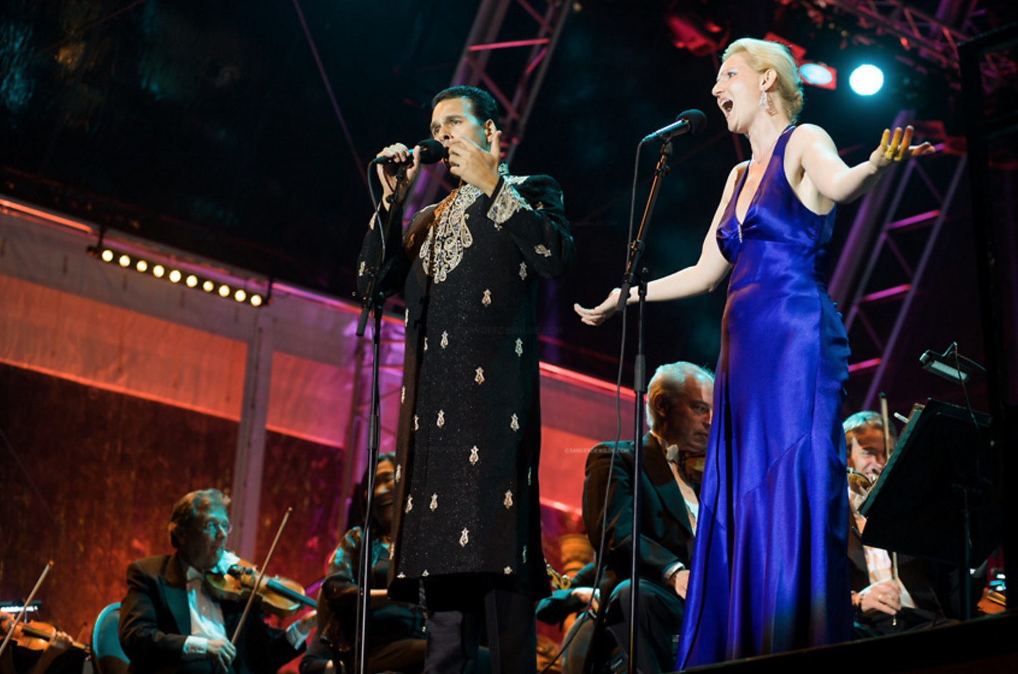 Paul Vincent Cable in a gala performance with the Rotterdam Philharmonic with his wife, Agnesa Tothova, singing soprano.