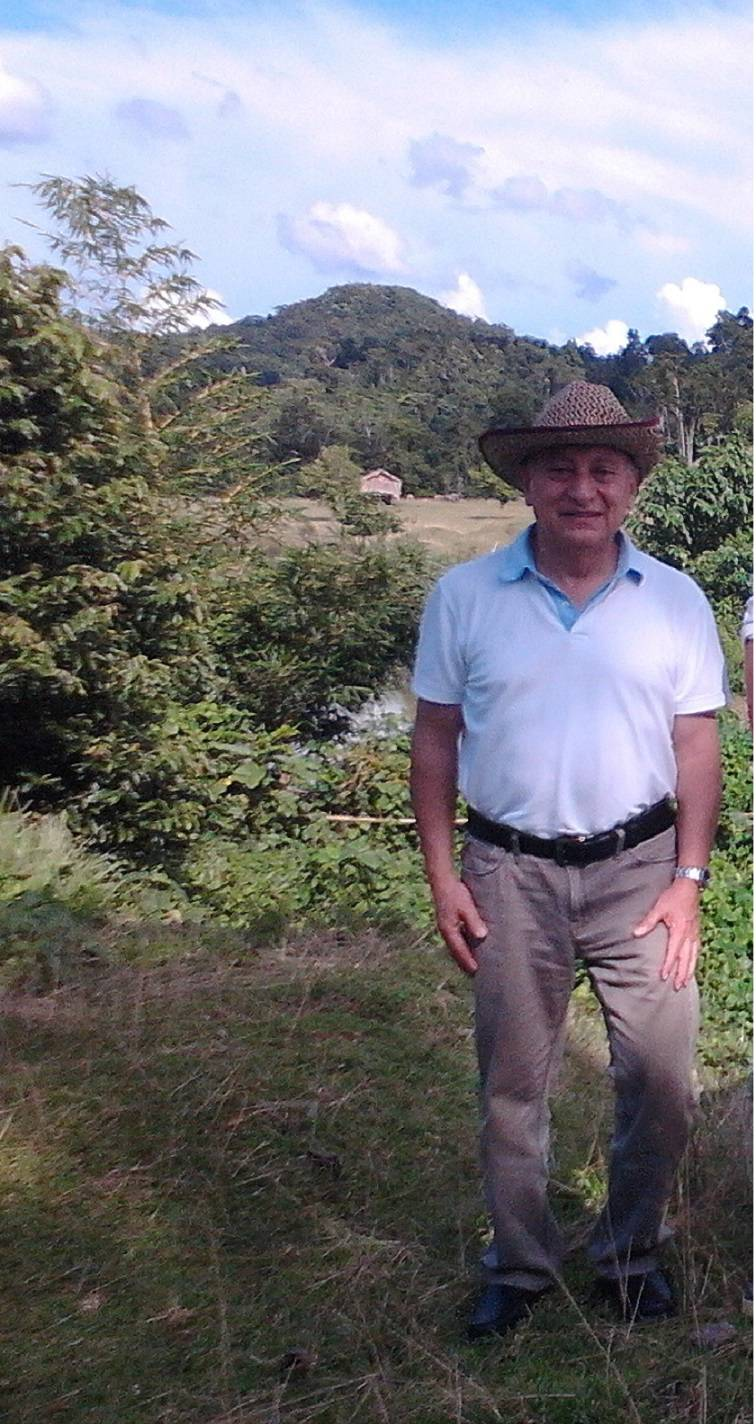 Rafael Legaria during visit to farms in Laos.  Photo credit: Rafael Legaria.