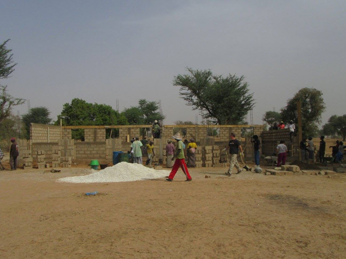 This was an empty space and within a week it has the foundation and walls of a future buildOn school in Befel, Senegal.