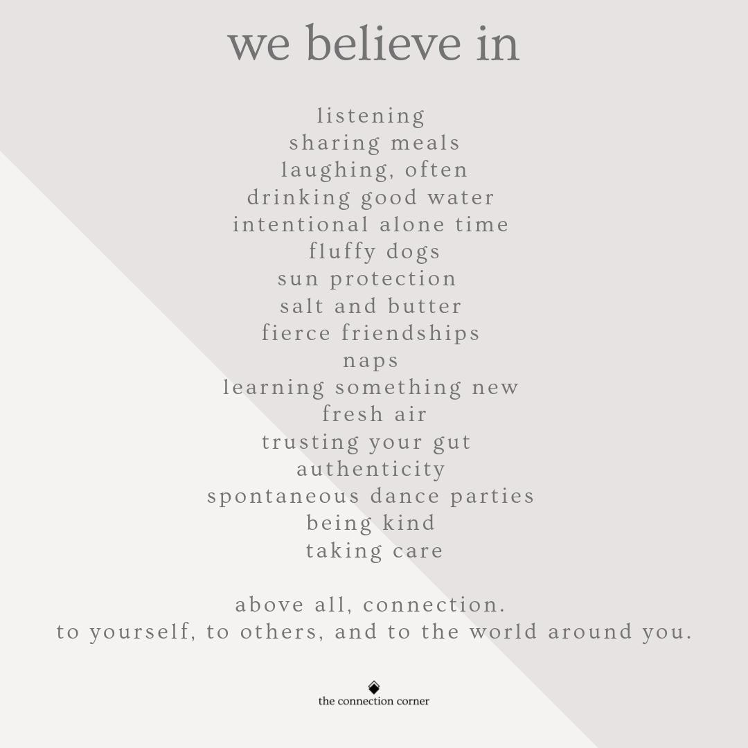 we believe manifesto