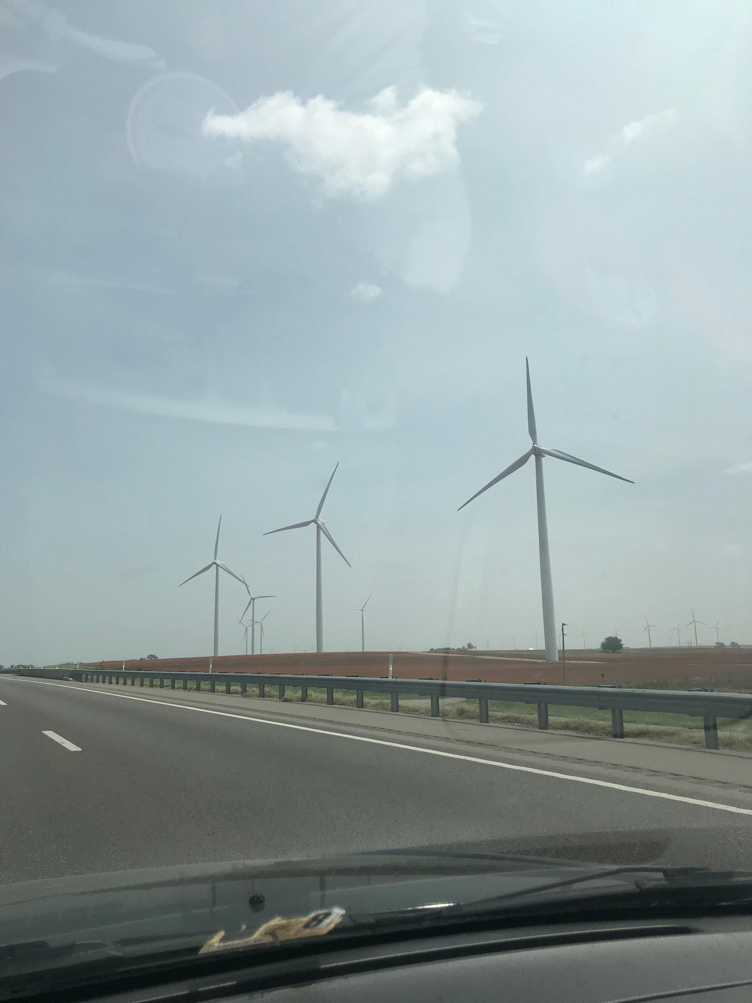 Windmills in Weatherford, Oklahoma
