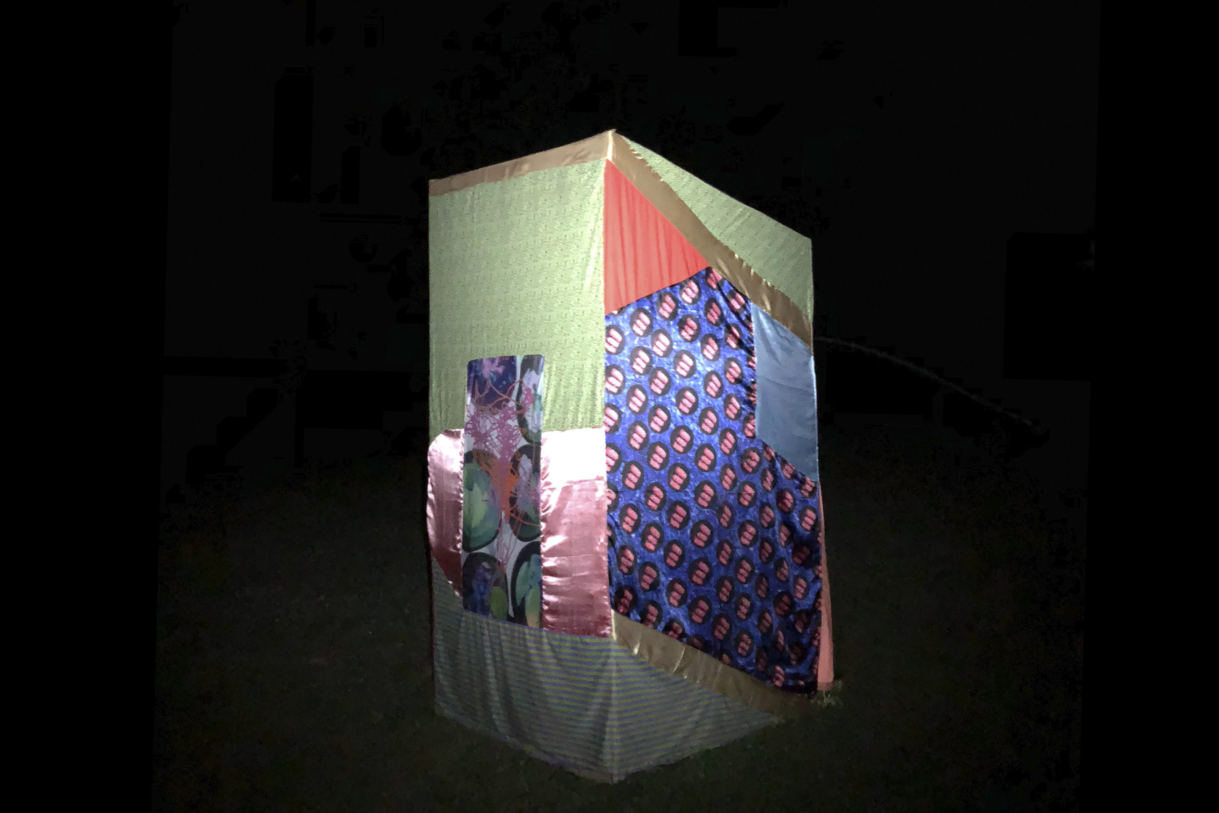 4. Fissure in the Air, 2018, Installation view at night, Upper Field, Skowhegan, Maine.jpg